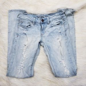 AEO Stretch Distressed Skinny Jeans